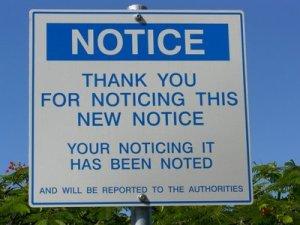 Get noticed signage