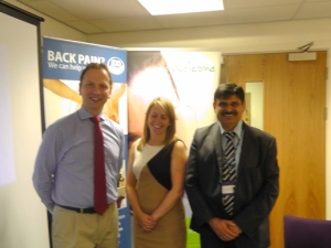 Stephen Small with BMI team at GP event in Coventry